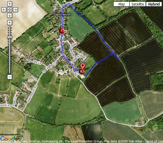 Newmarket Duathlon second run route