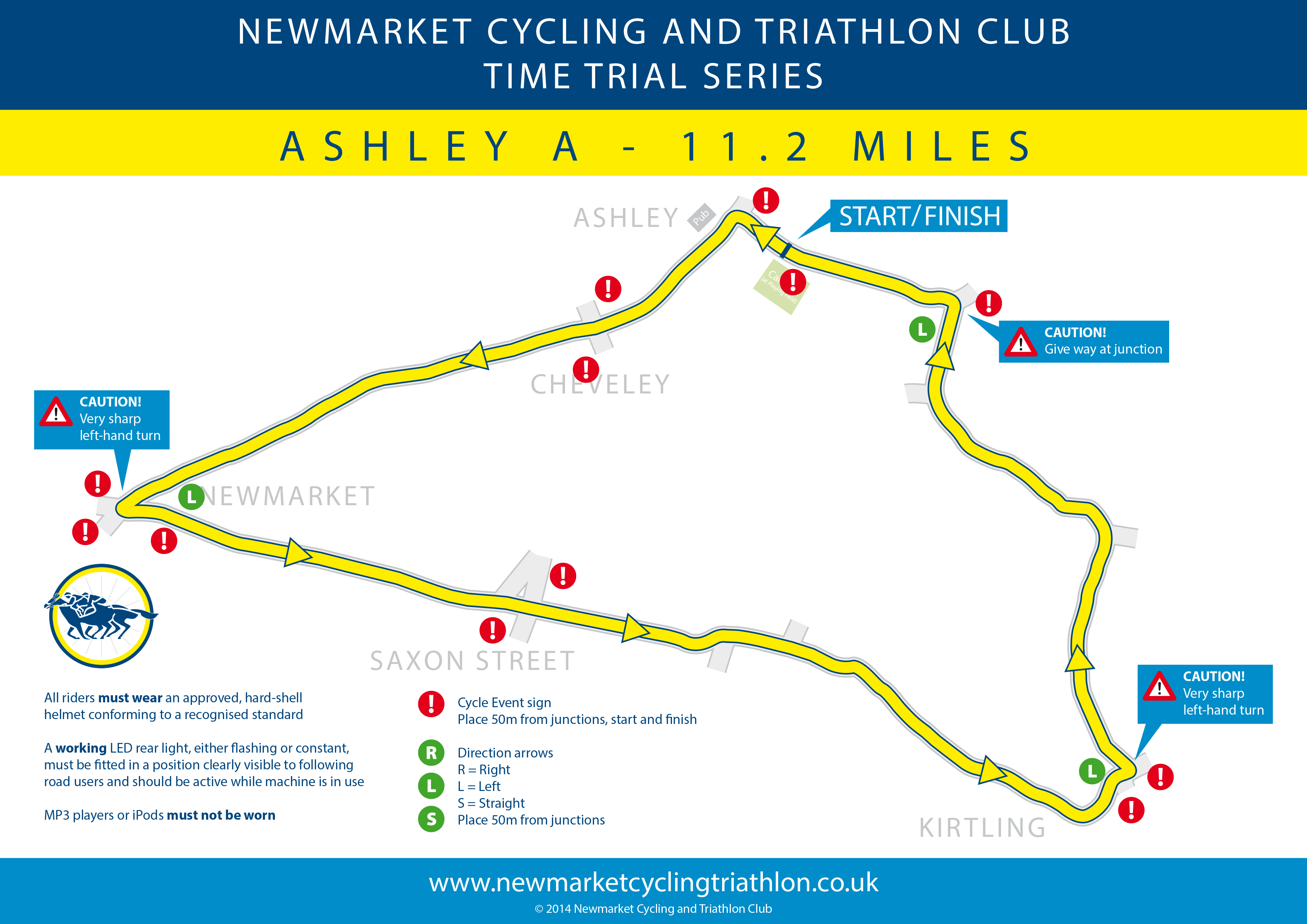NCTC Ashley A TT route
