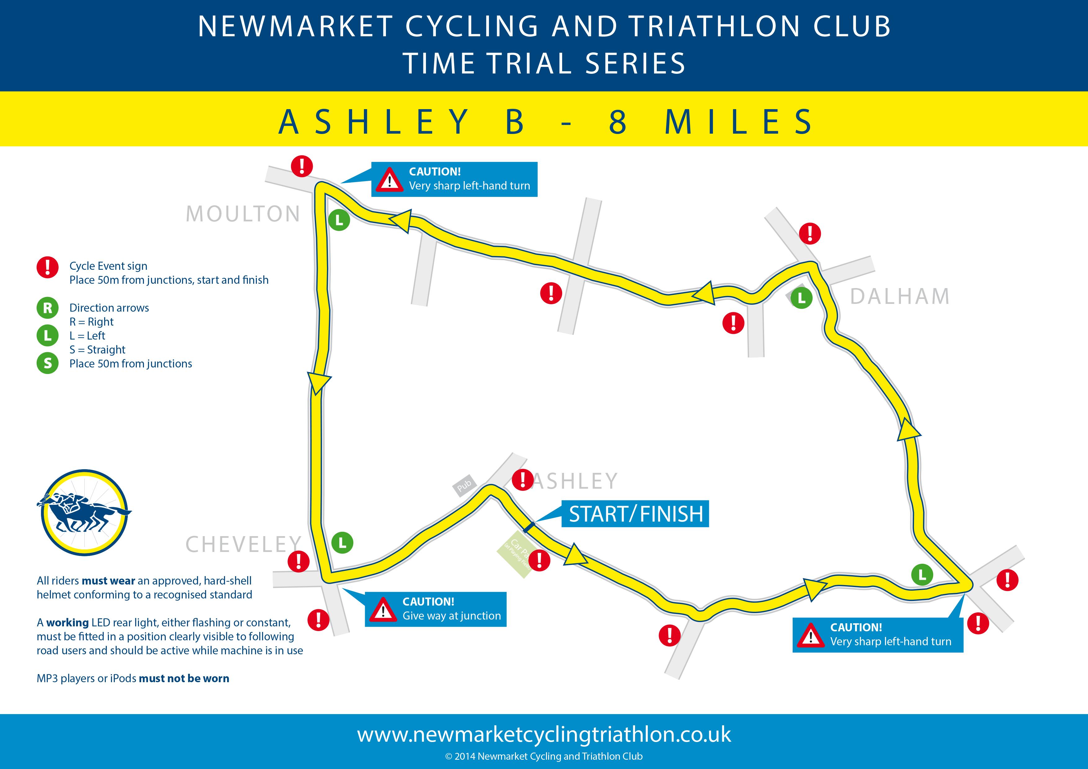 NCTC Ashley B TT route