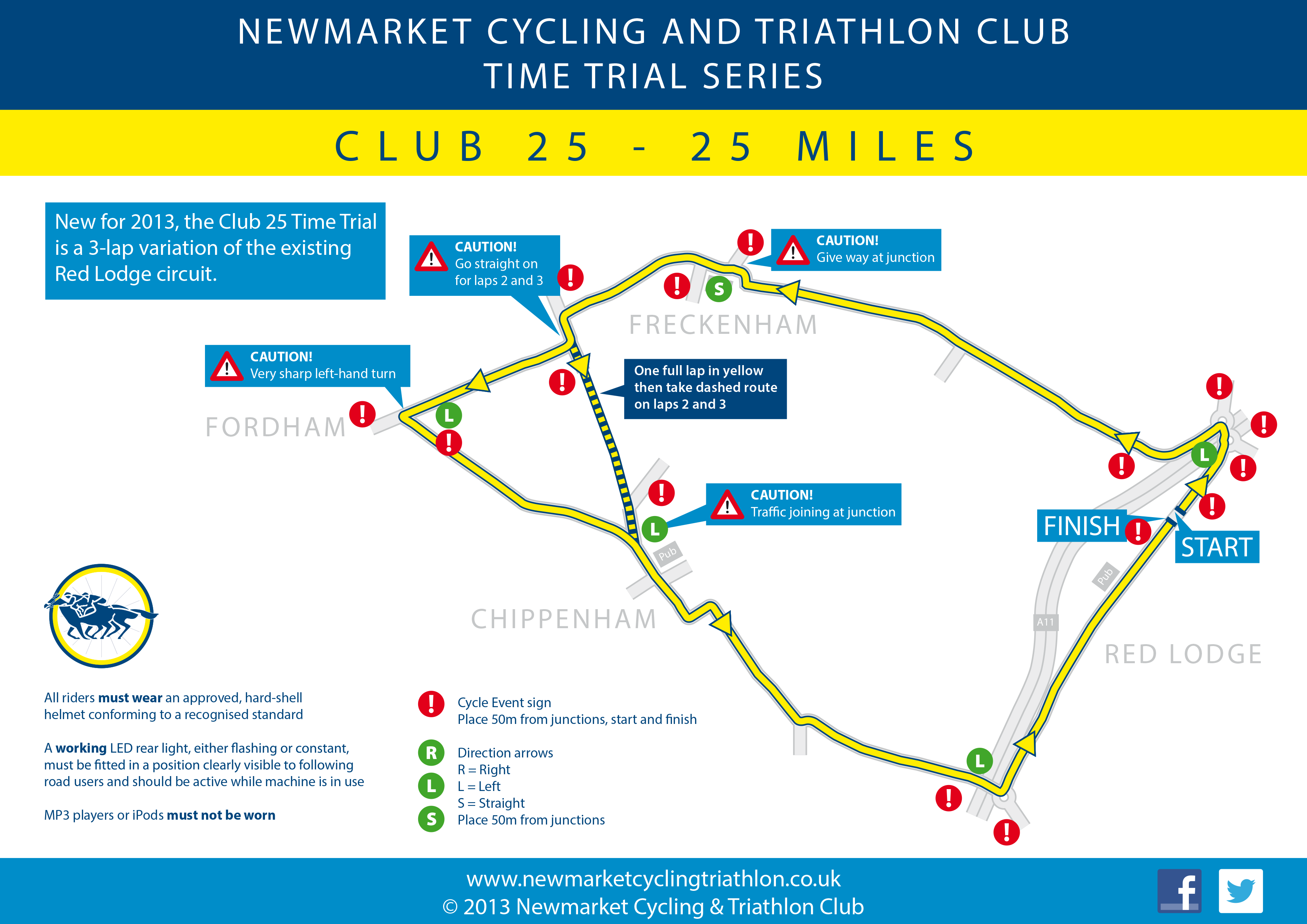 NCTC Club 25 TT route