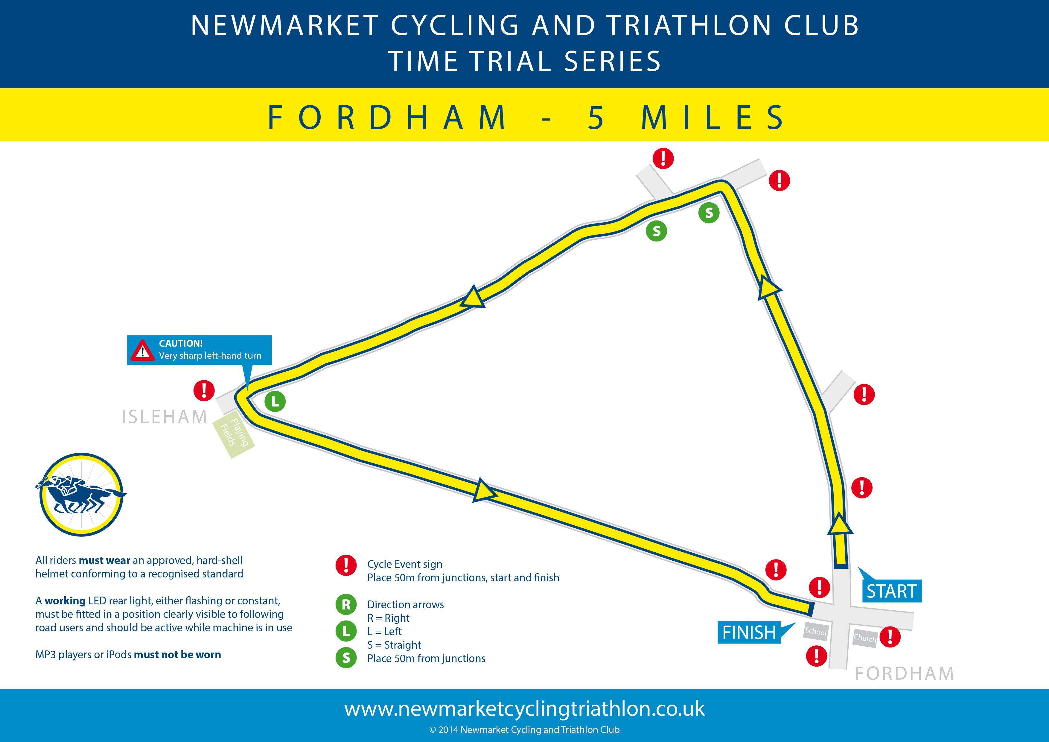 NCTC Fordham TT route